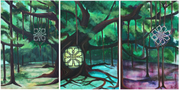 Enchanted Banyan Triptych