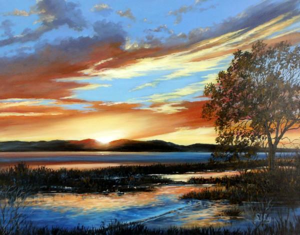 Summer's Dusky Sky by Lily Adamczyk