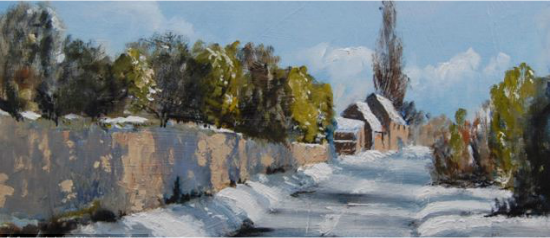 Staithe Road Winter Shadows
