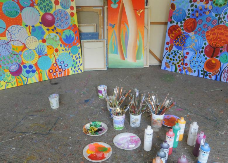 Florence De Bretagne's studio