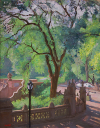 Bethesda Terrace, Central Park by Walter Mosely
